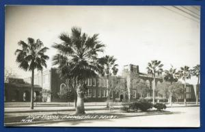 Brownsville Texas tx High School real photo postcard RPPC