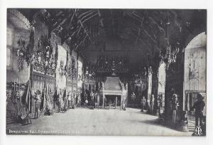 UK Scotland Edinburgh Castle Banqueting Hall Vtg Inglis Postcard