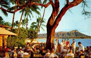 Hawaii Honolulu Waikiki Diamond Head Terrace Of The Halekulani Hotel