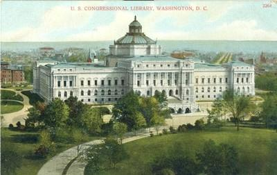 U.S. Congressional Library, Washington D.C. 1908 used Pos...