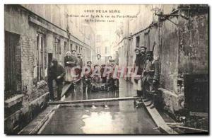 Old Postcard The Crue De La Seine Interior of the Iron Mill Street has