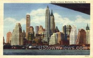 Lower Manhattan's Skyline New York City NY Unused
