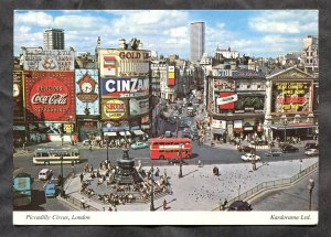 dc483 - UK LONDON Piccadilly Circus Coca-Cola Beer Alcohol Advertising. Postcard