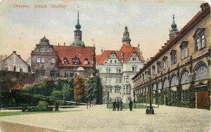 Germany Dresden Schloss Stallhof castle early postcard