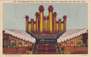 The Tabernacle Choir And Organ Great Mormon Tabernacle Salt Lake City Utah