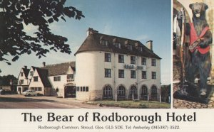 Bear Of Rodborough Hotel Gloucester Advertising PB Postcard