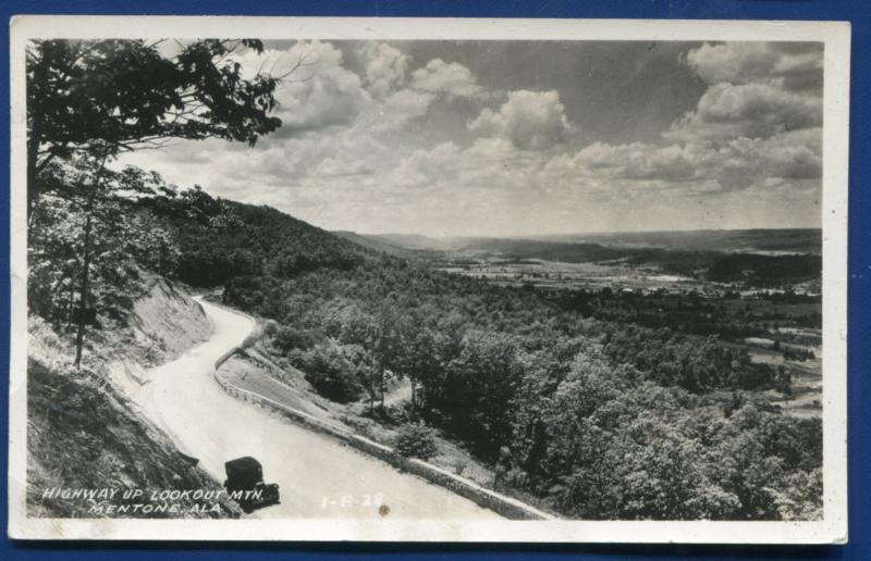 Mentone Alabama al Highway Up Lookout Mountain Real Photo Postcard RPPC