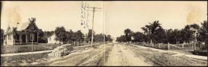 Velva, North Dakota, Street Scene, Double Panorama Postcard (1909) RPPC