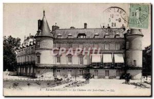 Old Postcard Rambouillet The castle