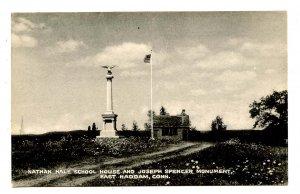 CT - East Haddam. Nathan Hale Schoolhouse, Joseph Spencer Monument