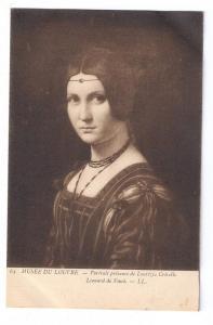 Leonardo Da Vinci Portrait Lucrezia Crivelli Musee Louvre