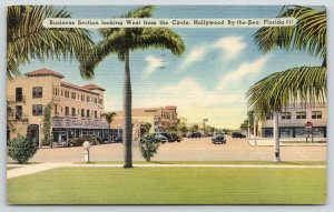 Hollywood by the Sea Florida~Main Street West @ Circle~Great Southern~1946