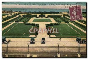 Old Postcard Deauville La Plage Fleurie flower gardens and casino