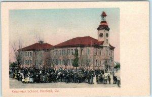 HANFORD, California CA ~ Handcolored GRAMMAR SCHOOL c1900s UDB Rieder Postcard