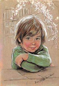 BF39140  les enfants bretons de marie claude monchaux  painting   art postcard