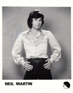 Neil Martin 1970s Pop Singer Hand Signed EMI Large Publicity Photo & Letter
