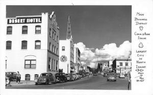 Coeur D Alene Idaho Business District Real Photo Antique Postcard K60188