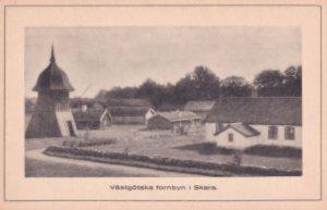 Vastgotska Fornbyn I Skara Sweden Old Postcard