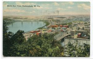 Panorama Parkersburg West Virginia 1913 postcard
