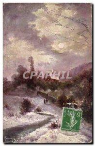 Old Postcard Fantasy Landscape