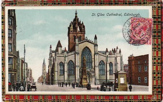 Scotland Edinburgh St Giles Cathedral 1914