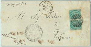 68549 - ITALIA REGNO: storia postale BUSTA da TAGLIUNO 1888 - Annullo NUMERALE