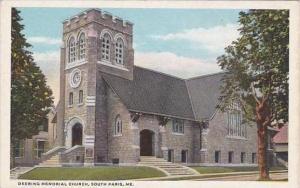 Maine South Paris Deering Memorial Church
