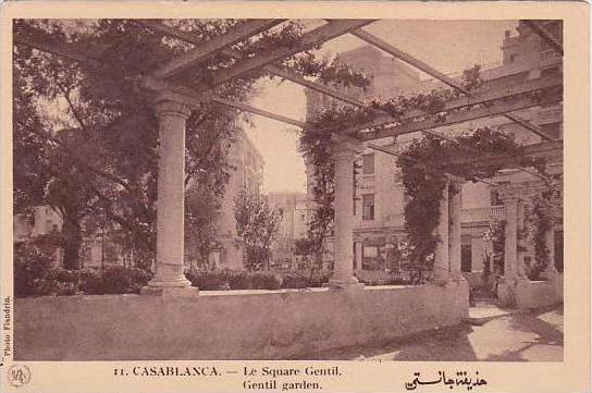 Morocco Casablanca Gentil Garden 1920s-30s