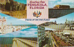 Florida Greetings From Pensacola Fiesta Of The Five Flags