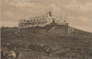 Uruguay Montevideo Faro y Fortaleza del Cerro 1920