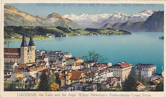 Lucerne, The Lake & The Alps, Where Schweizer's Embroideries Come From, Switz...