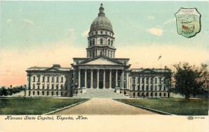 Topeka Kansas~Kansas Seal of the State Capitol~1910 Postcard