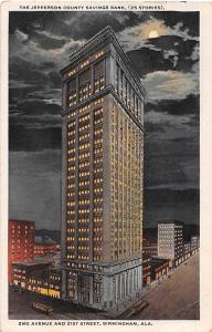Jefferson County Savings Bank Birmingham Alabama 1921 postcard