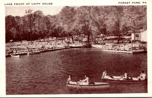 Pennsylvania Forest Park Lake Front At Unity House 1947