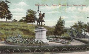 PHILADELPHIA, Pennsylvania, PU-1914; Statue of Jeanne d'Arc, Fairmount Park
