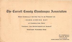 E74/ Carrollton Ohio Postcard Carroll County 1909 Chautauqua Association