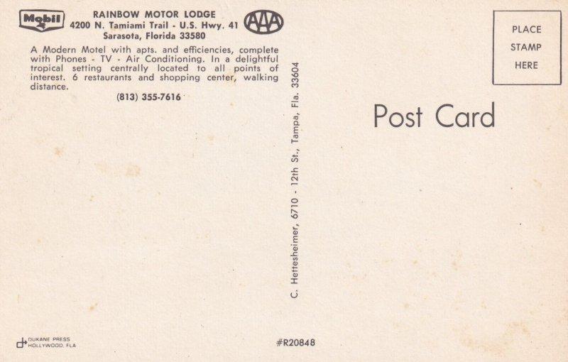 SARASOTA, Florida, 1950-1960's; Rainbow Motor Lodge