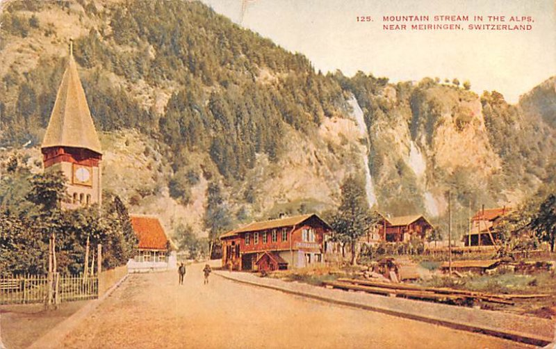Mountain Stream in the Alps Meringen Switzerland Unused