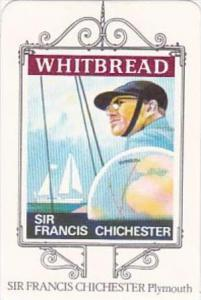 Whitbread Brewers Trade Card Maritime Inn Signs No 16 Sir Francis Chichester ...
