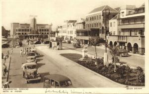 curacao, N.W.I., WILLEMSTAD, Brion Square, Hotel Americano, Cars (1947)
