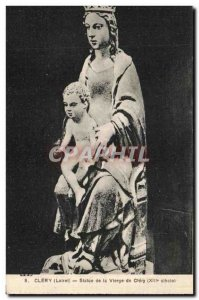 Old Postcard Clery Statue Of The Virgin De Clery