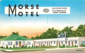 1950s Morse Motel CAIRO ILLINOIS Letterhead postcard 2354