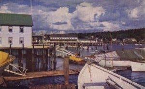 Fisherman's Wharf in Boothbay Harbor, Maine