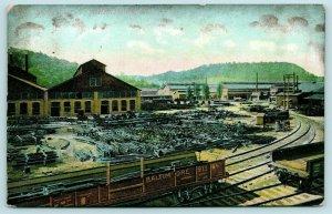 Johnstown Pennsylvania~Lorain Steel Co~Factory & Offices~Railroad~1908 Postcard