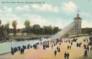 CHICAGO, Illinois, 1900-10s ; Riverview Exposition, Shoot the Chutes