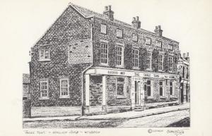 The Three Tuns Pub Norwich Road Wisbech Cambs Postcard