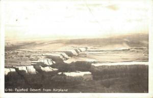 USA Painted Desert from Airplane North Rim REAL PHOTO 02.70