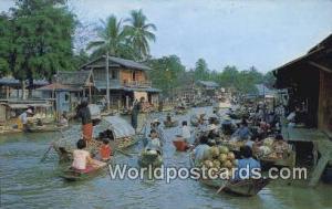 Dhonburi Thailand Wad Sai Floating Market  Wad Sai Floating Market