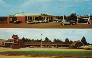 Mull's Motel and Restaurant, U.S. Highways No. 64-70-321, HICKORY, North Caro...