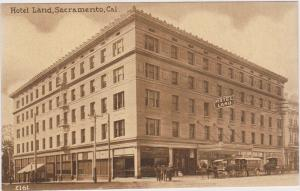 Street view showing Hotel Land, SACRAMENTO, California, 00-10s